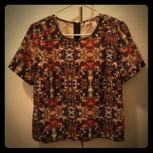 Forever 21 | Psychedelic Print Cuff Sleeve Blouse